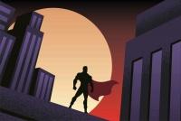 Graffiti Laptop Skin Superman Silhouette Photo