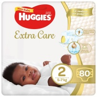 Huggies Extra Care Diapers Size 2 80 Nappies Photo