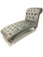 Decorist Home Gallery Diyahne - Grey Chaise Lounge Chair Photo