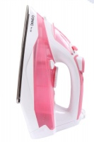 Conic - 2300W Stainless Steel Steam Iron - White & Pink Photo