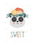 Wall Décor Canvas Art Prints for Baby Nursery: Grey Panda/Elephant/Bunny Photo