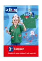 Doctor Surgeon Role Play Costume Set with Accessories - Green Scrubs Photo