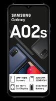 "Samsung Galaxy-A02s DS - 32GB - Tri Cam - 6.5"" Black Cellphone Photo"