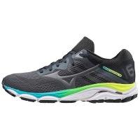 Mizuno Women's Wave Inspire 16 Running Shoes - Grey/Black/White Photo