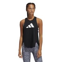 adidas Women's Bos Logo Training Tank - Black/Grefou/White Photo