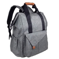 MLTK Designs Multi-function Baby Diaper Bag Backpack with Front Flip Storage - Grey Photo