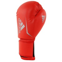 adidas Speed75 Boxing Glove Solarred/Silver 12-Oz Photo