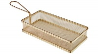 Deep Fryer Wire Mesh Fry Rectangle - Gold Photo