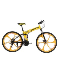 Yellow Colour 21 Speed Foldable Mountain Cycling Bike Photo