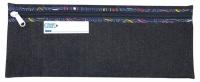 Bantex Denim Pencil Bag 32cm with Zip Blue Photo