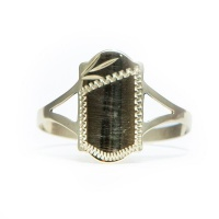 9ct Yellow Gold Baby Signet Ring - Shield Photo