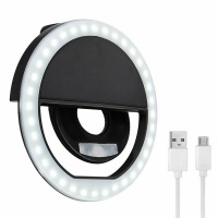 Rechargeable Mobile Selfie Ring Light Photo