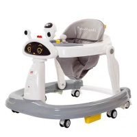 Totland Baby 6-Wheel Folding Walker with Easy-Clean Tray - Green Photo