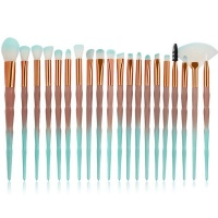 20 Piece Facial Make Up Synthetic Brush Set - Gradient Nude & Terquise Photo
