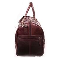 Bag Addict NUVO - Small Terence Overnight Bag - Brown Leather Photo
