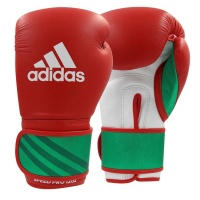 adidas Speed 350 Pro Boxing Glove 12-Oz Red/Wh/Gr Photo