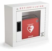 AED Defibrillator Cabinet - with Audible Alarm. Photo