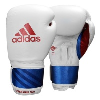 adidas Speed 350 Pro Boxing Glove 12-Oz Wh/Bl/Red Photo