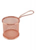 Deep Fryer Wire Mesh Fry Basket Circle - Rosegold Photo