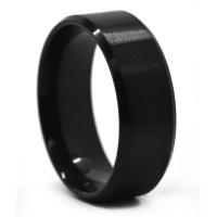 Xcalibur Men's Steel Black 8mm Ring SSVR9811-1 Photo