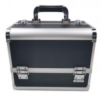 Bella Aluminum Frame Cosmetic Organizing Case Lined Black Photo