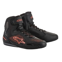 Alpinestars Faster 3 Rideknit Shoes - Black Red-Fluo Photo