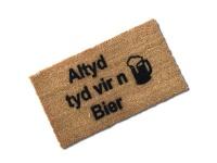 Matnifique 'Altyd tyd vir 'n Bier' Natural Coir Doormat Photo