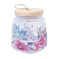 Christian Art Gifts Enjoy The Little Things - Glass Jar Photo