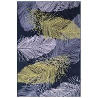 Carpet City Factory Shop Green White Feathers 160x230 Photo