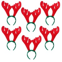Christmas Reindeer Antler Headband - 6 Pack Photo