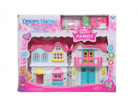 Wish Happy Family Dream Home Mini 20cm Dollhouse for Kids with Accessories Photo