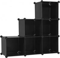 LASA 6-Cube Storage Organizer Closet Shelves Plastic Cabinet Photo
