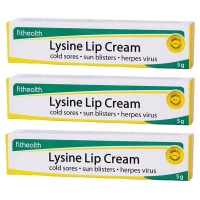 Fithealth - Lysine Lip Cream for Healing and Soothing Lips - 3 x 5g Photo