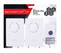 Securitymate Wireless Door Chime 120M With 2 x Receivers Photo