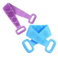 2 Pieces Double-Sided Silicone Back Scrubber For Shower Photo