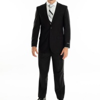 Men's Warner 2 Piece Suit - StatesMan - Black Photo