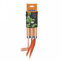Tramontina Garden Tool Set with Fork - Orange - 3 Piece Photo