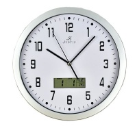 Justin 34cm Round White Face with Date Display Quartz Wall Clock Photo
