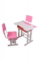 Study Desk & Ergonomic Chair Girls - Pink Photo