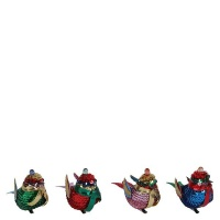 AK Multi Sequin Bird Christmas Decorations Large - Pack of 4 Photo