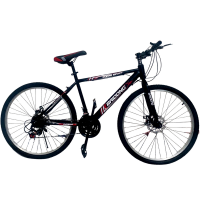"26"" Black & Red Road Bike with Mechanical Disc Brakes Photo"