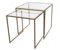 George Mason George & Mason - Glass Nesting Table Set Photo