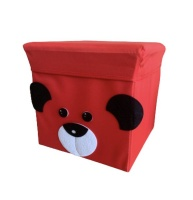 Big Jim Toy Storage Stool Box - Red Dog Photo