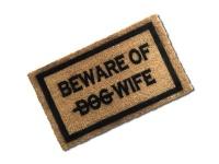 Matnifique 'Beware of Wife' Natural Coir Doormat Photo