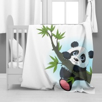 Print with Passion Cute Panda Minky Blanket Photo