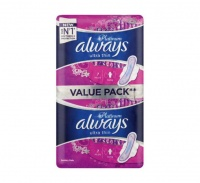 Always Ultra Sanitary Pads Platinum Long - 10 Pack Photo