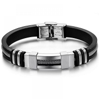 Stainless Steel & Silicone Bracelet - Wrist Band Photo