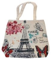 Tote Bag. Hand Bag. Large. Paris / Eiffel Tower theme Photo