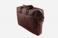 "Minx - Genuine Buffalo Leather Laptop Bag Rich Brown 15"" Photo"