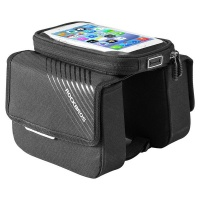 Rockbros Bicycle Top Tube Pannier Bag with Touch Screen Phone Case Photo